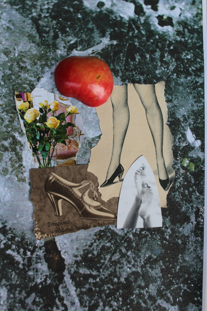 Martin Patřičný: Jablko Evino (koláž)