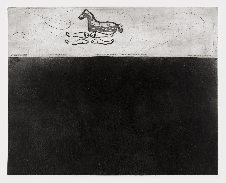 Květa Pacovská: Utíkejte na konec (1969). Foto: Galerie hlavního města Prahy