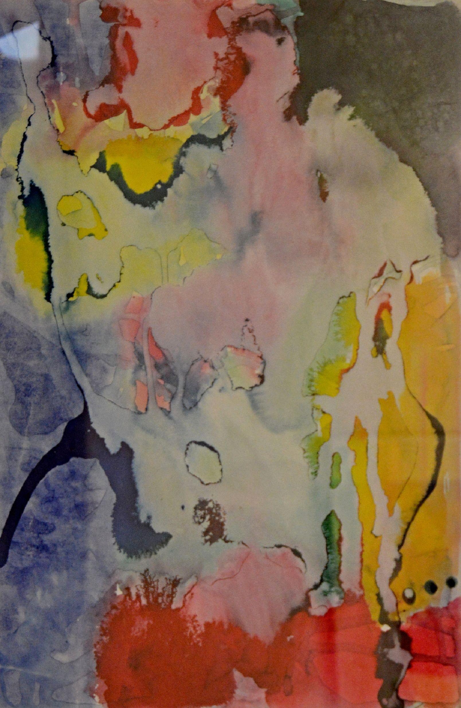 Martin Hronza: Bez názvu, dekalk a akvarel, 42 x 30 cm, 2005. Foto: Jan Dočekal