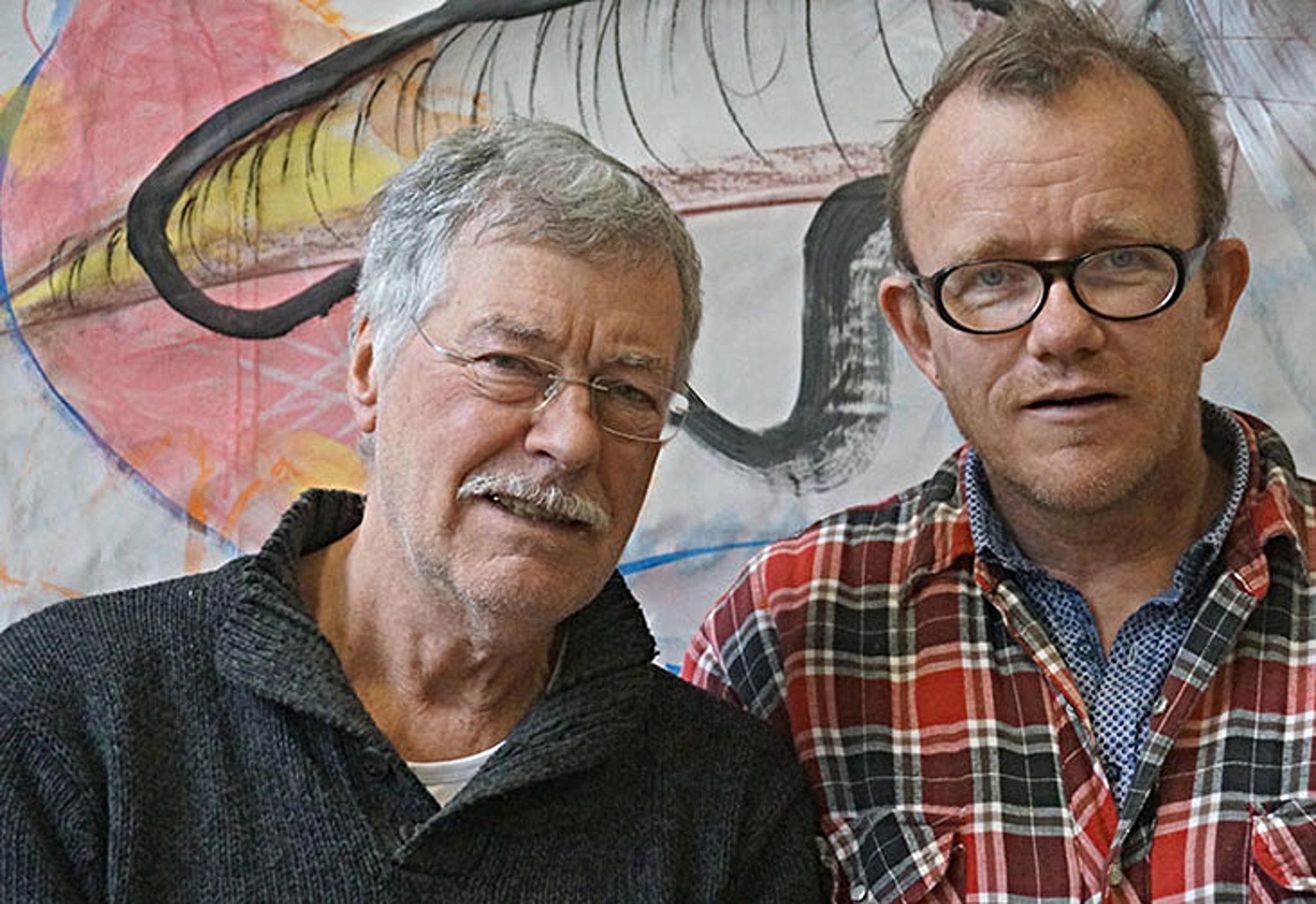 Rik Lina (vlevo) s malířem Janem Giliamem. Foto: Archiv Rika Liny.