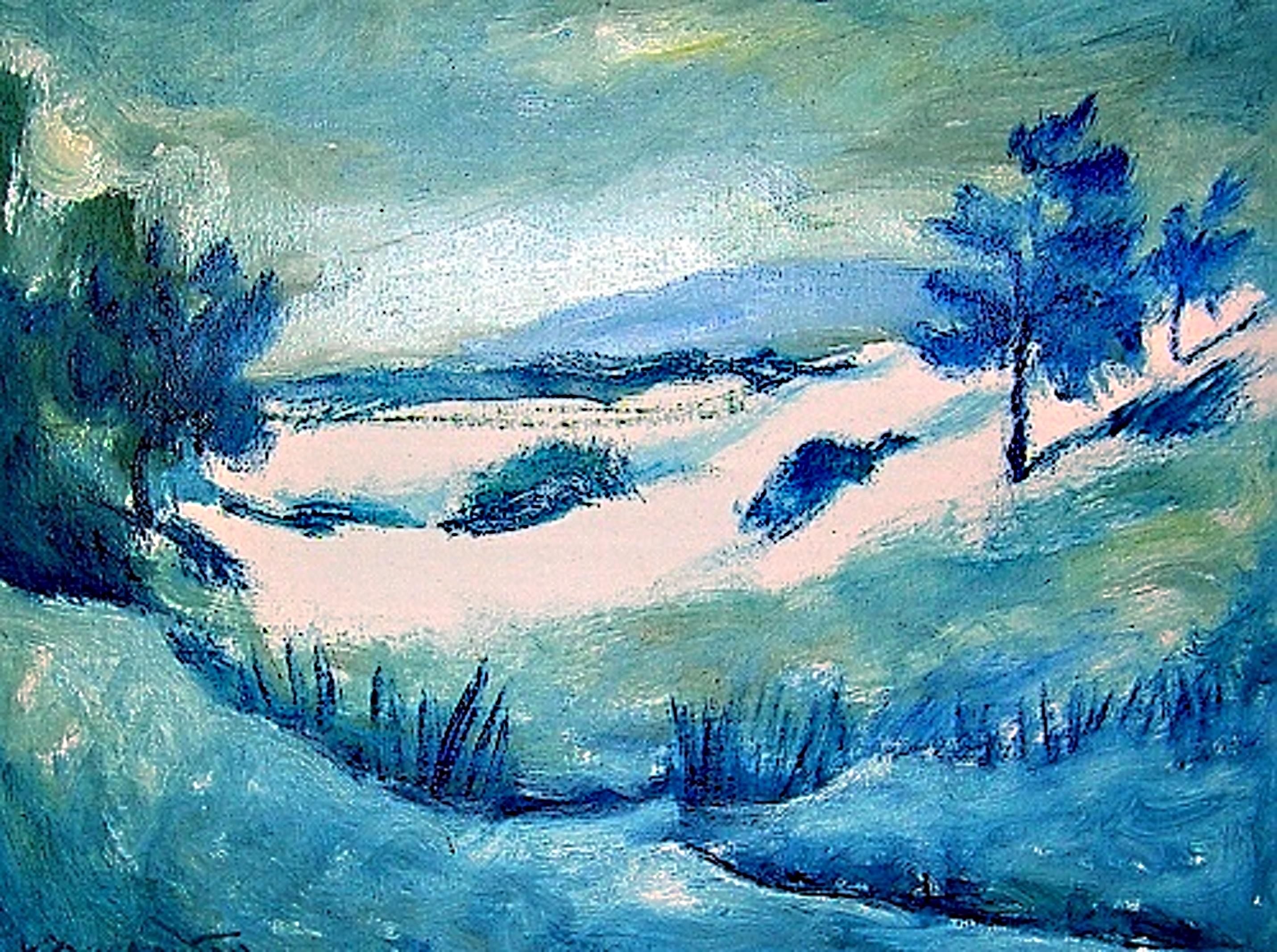 Vlastimil Toman: Údolí, olej na plátně, 60 x 80 cm, 2008. Foto: Jan Dočekal.