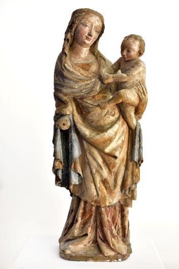 Madona z Leogangu, Salcburk (?), 80. léta 14. století, Bergbau- und Gotikmuseum Leogan