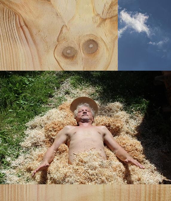 Ilustrační foto - koláž Martin Patřičný:  Ve dřevěné vatě - Jako v nebi