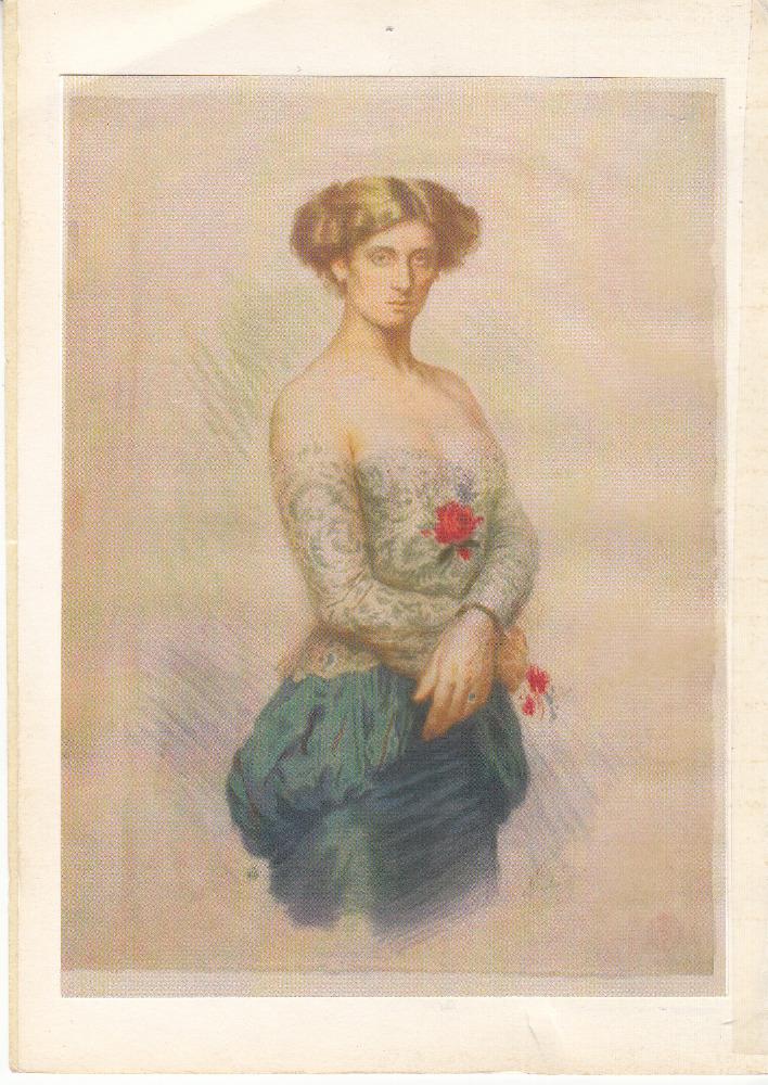 Litografie Sidonie Nádherné od Maxe Švabinského ze sbírek Národního muzea. Foto: Národní muzeum